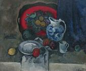 Alexander KUPRIN. Still-life with Red Tray and Pitcher. 1930