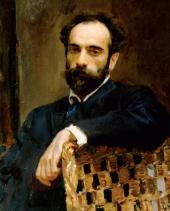 Valentin SEROV. Portrait of Isaac Levitan. 1893