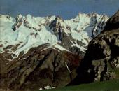 Mountain Range. Mont Blanc. 1897
