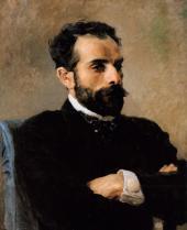 Vasily POLENOV. Portrait of Isaaс Levitan. 1891