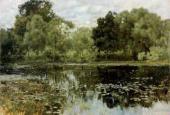 Isaac LEVITAN. Overgrown Pond. 1887