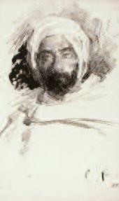 Sergei VINOGRADOV. Levitan in Bedouin Clothes. 1887