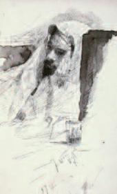 Mikhail NESTEROV. Levitan in Bedouin Clothes. 1887