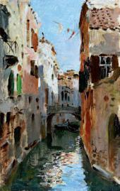 saac LEVITAN. Canal in Venice. 1890