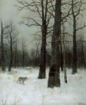 Isaac LEVITAN. Winter. In a Forest. 1885
