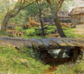 Isaac LEVITAN. Little Bridge. Savvinskaya Township. 1884