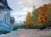 Isaac LEVITAN. Babkino. The Kiselevs' House. 1885