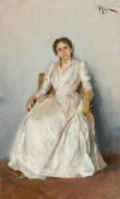 Isaac LEVITAN. Portrait of the Artist Sofia Petrovna Kuvshinnikova (1847-1907).
