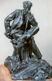 Paolo TRUBETSKOI. Portrait of Isaac Levitan. 1899