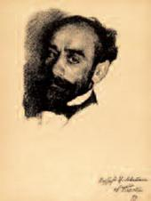 Léon BAKST. Portrait of Isaac Levitan 1899