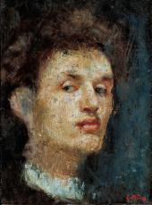 SELF-PORTRAIT. 1886. OIL ON CANVAS. 33 × 24.5 CM. NATIONAL GALLERY, OSLO