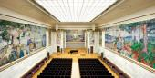 1. THE UNIVERSITY'S AULA, OSLO, WITH EDVARD MUNCH'S DECORATIONS