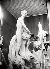 THE ABEL MONUMENT DURING MODELING. 1905