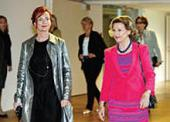QUEEN SONJA AND TIINA KIVINEN, JUNE 2012