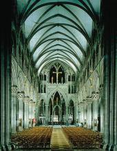 INTERIOR OF THE CATHEDRAL LOOKING TOWARDS THE EAST