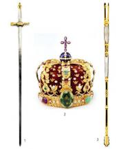 1. THE SWORD OF STATE. 2. THE KING'S CROWN. 3. SHEATH OF THE SWORD
