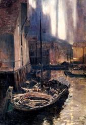 KONSTANTIN KOROVIN. HAMMERFEST. POLAR LIGHTS. 1894–1895