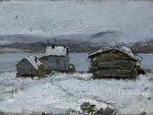 KONSTANTIN KOROVIN. WINTER IN LAPLAND. 1894