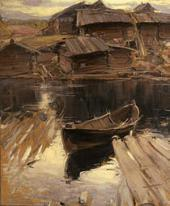 ABRAM ARKHIPOV. A NORTHERN VILLAGE. 1903