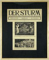 "FIRST PAGES OF ""DER STURM"" MAGAZINE."