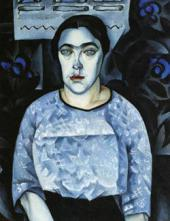 NATAN ALTMAN. PORTRAIT OF NADEZHDA DOBYCHINA. 1913