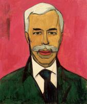 XAN KROHN. PORTRAIT OF SERGEI SHCHUKIN. 1915