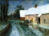 FRITZ THAULOW. NIGHT. 2ND HALF OF THE 1880s