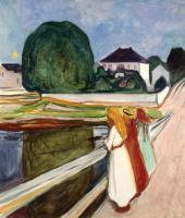 EDVARD MUNCH. WHITE NIGHT. ÅSGARDSTRAN. 1902-1903