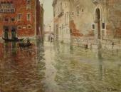 FRITZ THAULOW. A CORNER OF VENICE. 1ST HALF OF THE 1890s.