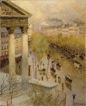 FRITZ THAULOW. BOULEVARD MADELEINE IN PARIS. 1895