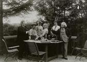 ADOLPH AND ANNA BRODSKY AT A GARDEN PARTY