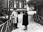 BJØRNSTJERNE BJØRNSON AND EDVARD GRIEG AT EDVARD'S 60th YEAR BIRTHDAY. 1903