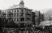 CELEBRATION OF EDVARD GRIEG'S 60TH BIRTHDAY. PHOTO. 1903. BERGEN