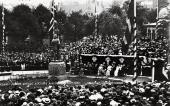 UNVEILING OF STATUE OF EDVARD GRIEG. 1917. BERGEN. PHOTO