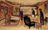 "EDVARD MUNCH. SCENE FROM HENRIK IBSEN'S ""GHOSTS"" 1906"