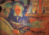EDVARD MUNCH. HENRIK IBSEN AT THE GRAND CAFE. 1909-1910