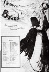 THEATRE PROGRAMME OF THE FIRST PERFORMANCE OF IBSEN'S «BRAND»
