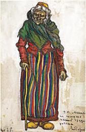 NIKOLAI ROERICH. ÅSE. SKETCH OF THE COSTUME. 1912