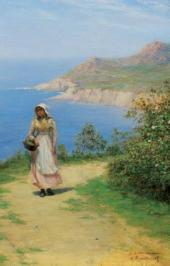 Road above the Sea. 1890s