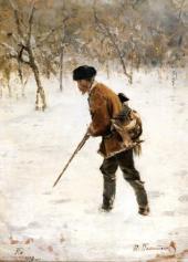 Hunter in Winter. 1890