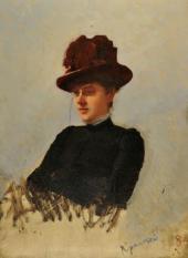 Ivan Kramskoi. Portrait of Matilda Pokhitonova. 1884