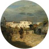 A Street in the South of France. Late 1880s. Detail.