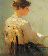 Portrait of Yevgenia Wulffert. 1888