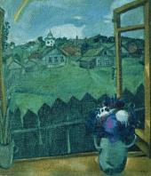 View from the Window in Vitebsk (Window. Vitebsk). 1908