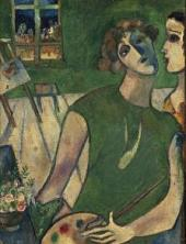Self-Portrait in Front of the House. 1914