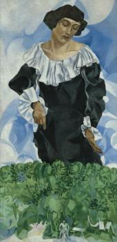 Bella with White Collar. 1917