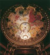 Ceiling of the Paris Opera. Paris, 1964