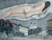 Nude above Vitebsk. 1933