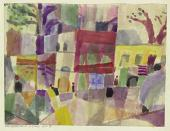 Paul KLEE. Red and Yellow Houses in Tunis. 1914