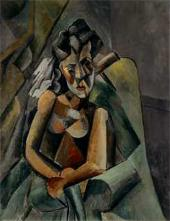 Pablo PICASSO. Seated Woman. 1909